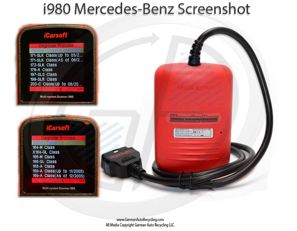Mercedes benz diagnostic airbag light reset scan tool w203 for Mercedes benz b5 service cost